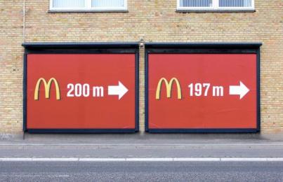 Mcdonald's Fast Food Restaurant: 200-197 METRES Outdoor Advert by DDB Copenhagen