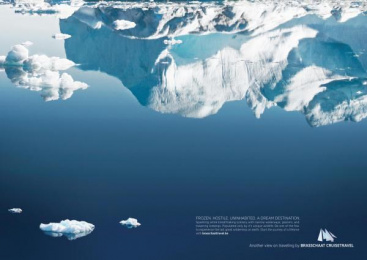 Cruise Plus Brasschaat: ANTARCTICA Print Ad by Euro Rscg Brussels