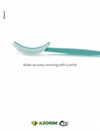 Azorim: Wake Up Every Morning With a Smile Print Ad by Blanco