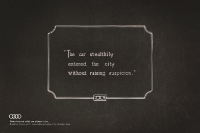 Audi: Audi: The Future Will be Silent Too, 3 Print Ad by DDB Madrid