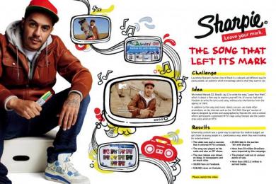 Sharpie: LEAVE YOUR MARK Promo / PR Ad by DraftFCB Rio De Janeiro