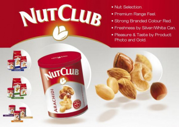 SNACK RANGE: NUT CLUB Print Ad by Team Creatif