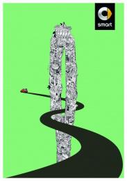 Smart Fortwo: Berlin [alternative color spectrum] Print Ad by BBDO Berlin