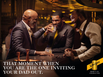 Schweppes: Like Father, 1 Print Ad by Landia, Publicis Italy