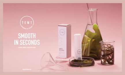 Temt: Aesthetic Chemistry: Smooth in Seconds Outdoor Advert by Misterwilson