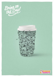 Dunkin Donuts: University Print Ad by Y&R Vienna
