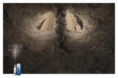 Otrivin: Dust Print Ad by Saatchi & Saatchi BrandsRock Johannesburg