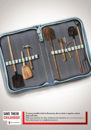 Save The Children: Pencil Toolbox Print Ad by Friends\TBWA Bucharest