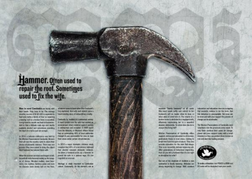 Women Peacemakers Cambodia: HAMMER Print Ad by Champagne Havas, Rosapark Paris