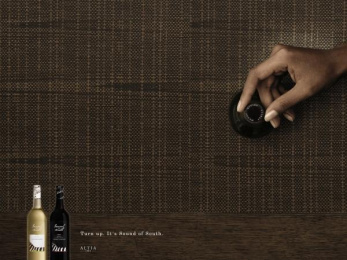 SOUND OF SOUTH WINES: TURN UP Print Ad by Kaisaniemen Dynamo