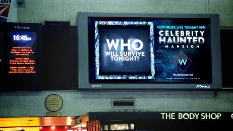 UKTV Channel W: Celebrity Haunted Mansion, 4 Outdoor Advert by UKTV Creative