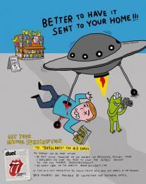 Duellanti Cinema Magazine: UFO Print Ad by Publicis Italy