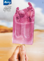 Ajellso Sorvetes: Refreshing Suer Flavors P Print Ad by Dupla Communication Vitoria