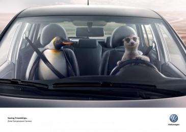 Volkswagen: Meerkat & Penguin Print Ad by DDB Buenos Aires