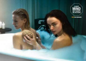 VHV: Brains Off Road - Woman's Mind Print Ad by Scholz & Friends Hamburg