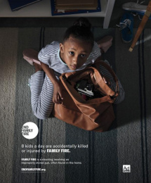 Ad Council: End Family Fire, 1 Print Ad by Droga5 New York