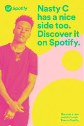 Spotify: Nasty C Outdoor Advert