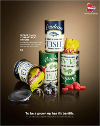 Malaco: Malaco Secret Candy Compartments  Print Ad by King