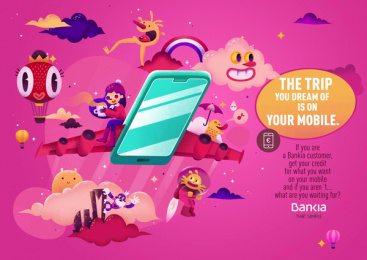 Bankia: The Trip Print Ad by CLV Madrid, The Mushroom Company