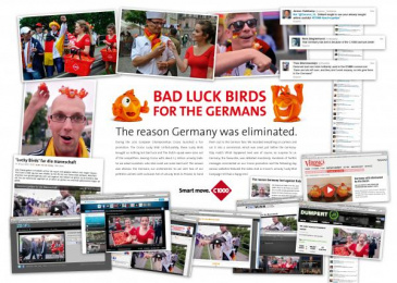 C1000: UNLUCKY BIRDS FOR THE GERMANS Promo / PR Ad by Lowe@Alfred Amsterdam