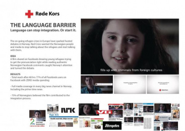 Red Cross Norway: The Language Barrier [image]  Digital Advert by Fantefilm, Try/Apt Oslo