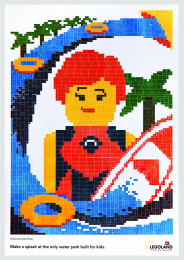 Legoland: Surfer Girl Print Ad by VML New York