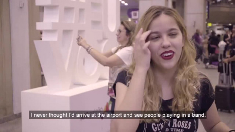 RIOGaleão Airport: Every Passenger is a Rock Star Ambient Advert by Geometry Global Sao Paulo