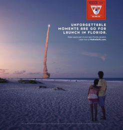 Space Florida: Unforgetable Print Ad by Paradise Advertising
