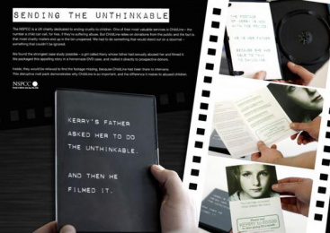 NSPCC: Sending the unthinkable Print Ad by Rapp London
