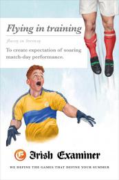 Irish Examiner: Flying in Training Print Ad by Chemistry Dublin