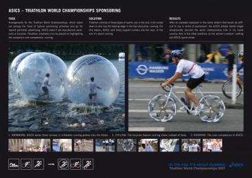 Asics Running Shoes & Running Gear: ASICS TRIATHLON Print Ad by Nordpol Hamburg