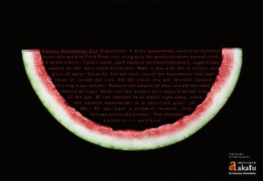 The Akatu Institute: Candied watermelon rind Print Ad by Leo Burnett Tailor Made Sao Paulo