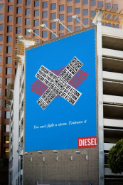 Diesel: Embrace It, 4 Outdoor Advert by Miami Ad School New York