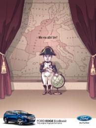 Ford Edge: Napoleon Print Ad by BBR Saatchi & Saatchi Israel