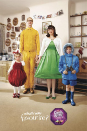 Quality Street Chocolates: MR TOFFEE FINGER & FAMILY Outdoor Advert by J. Walter Thompson London