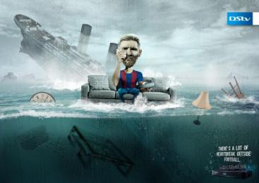 Dstv: Messi Heartbreak Print Ad by X3M Ideas Lagos