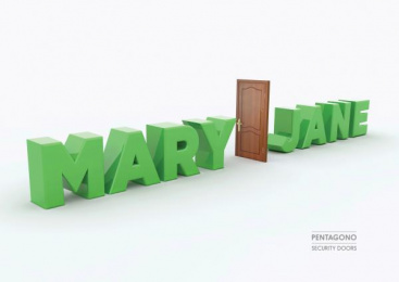 Pentagono Security Doors: Mary Jane Print Ad by Dhélet Y&R