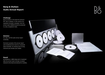 Bang & Olufsen: AUDIO ANNUAL REPORT Direct marketing by Serviceplan Munich