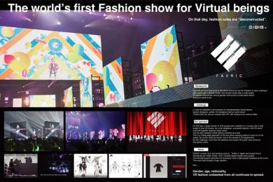 GirlsAward inc.: Fashion Show for Virtual Being - Board Case study by Dentsu Inc. Tokyo
