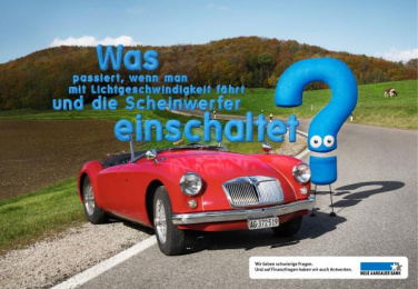 Neue Aargauer Bank: Speed of light Print Ad by Euro Rscg Zurich