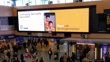 Google Pixel 2: Tactical OOH Campaign Outdoor Advert by BBH London, Grand Visual