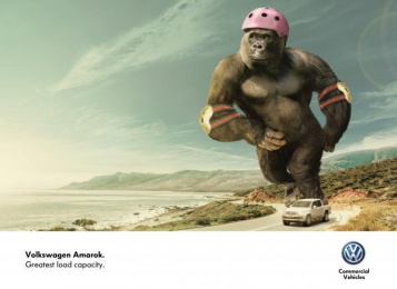 Volkswagen Amarok: GORILLA Print Ad by Kepel & Mata