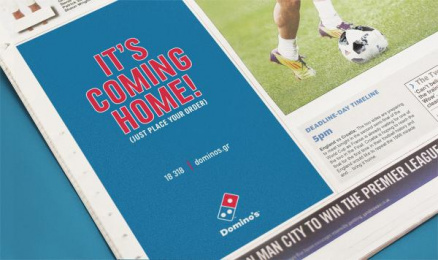 Domino's Pizza: It's Coming Home, 2 Print Ad by The Newtons Laboratory