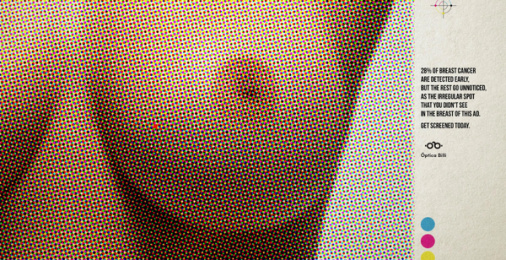 Óptica Billi: Unnoticed Breasts, 3 Print Ad by Zea BBDO Venezuela