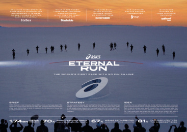 Asics: Eternal Run, 1 Print Ad by Edelman New York, Unit 9