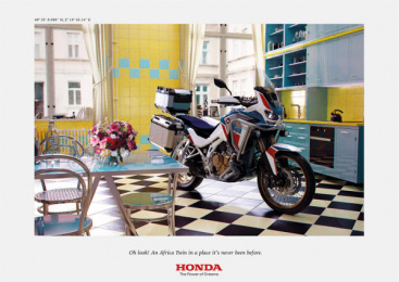 Honda: Africa Twin At Home, 4 Print Ad by DDB Paris