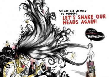 Rolling Stone Magazine: HEADBANGER Print Ad by Oliver Voss