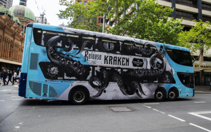 The Kraken Spice: The Kraken released in Sydney, 1 Outdoor Advert by Preoccupied Australia