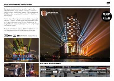 The Elbphilharmonie Hamburg: The Elbphilharmonie Grand Opening [image] Ambient Advert by Jung Von Matt/Alster Hamburg