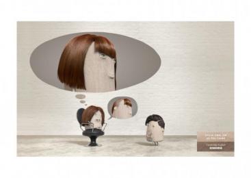 Acadomia: Hairdresser Print Ad by Les Gaulois
